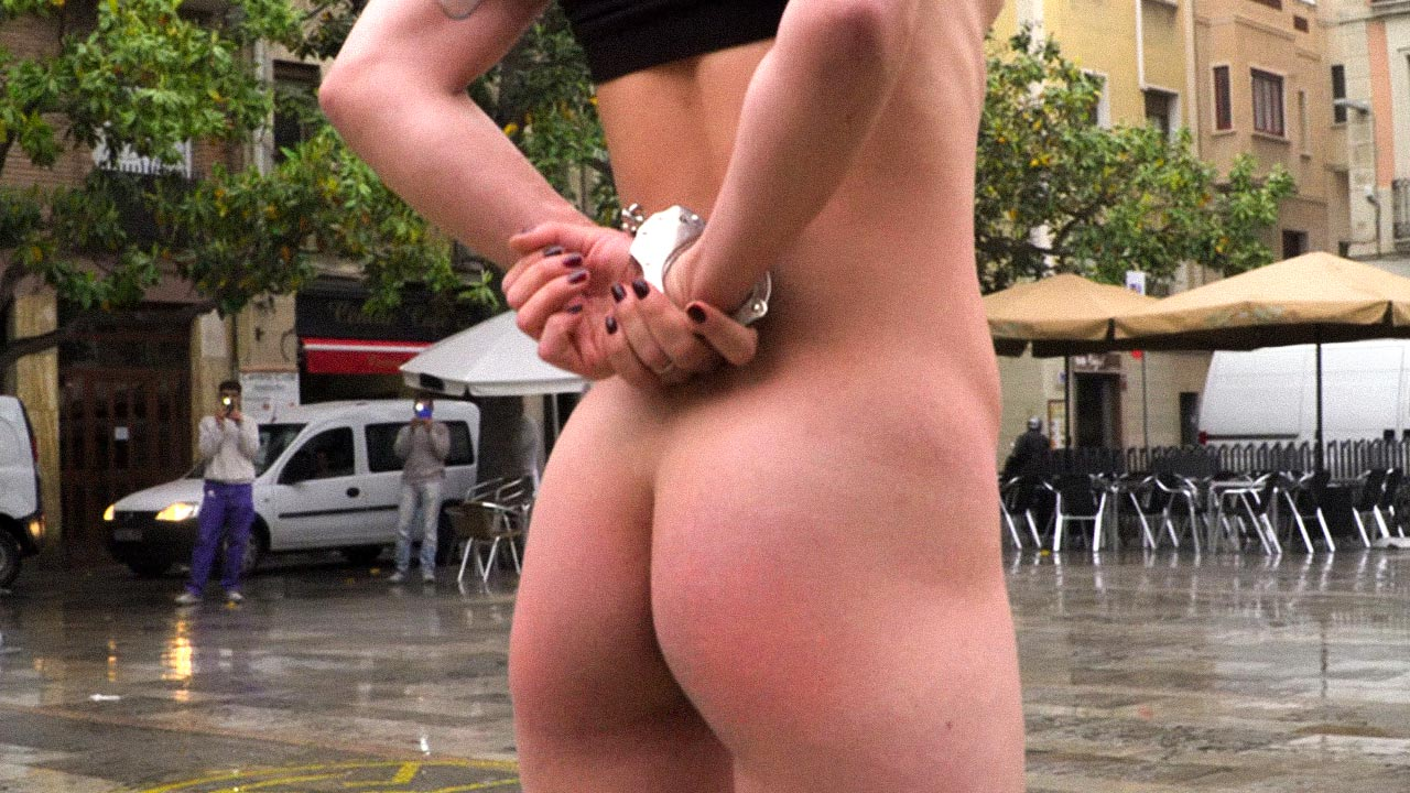 Public Sex, Nude Girls giving Blowjob, having Anal sex and double penetration in the streets for all to see. Hardcore BDSM flashing videos from publicdisgrace.