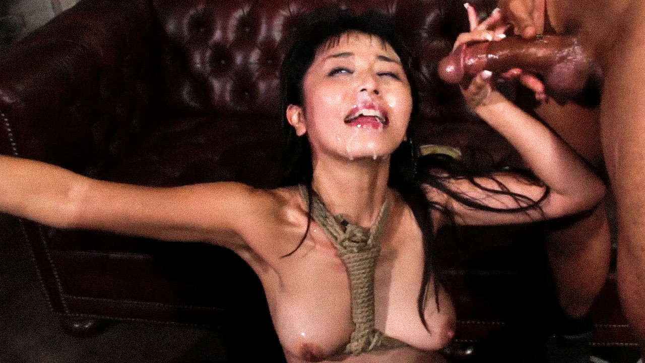 Marica Hase loves Gangbang. The nude Japanese Girl receives facials after Double Penetration and anal sex in bondage.