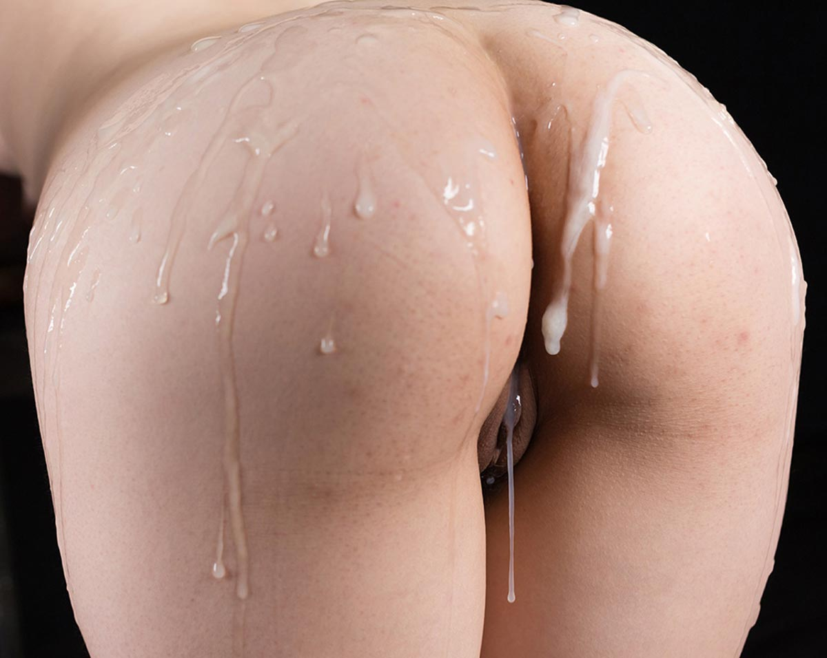 Ass cum dripping doggy style