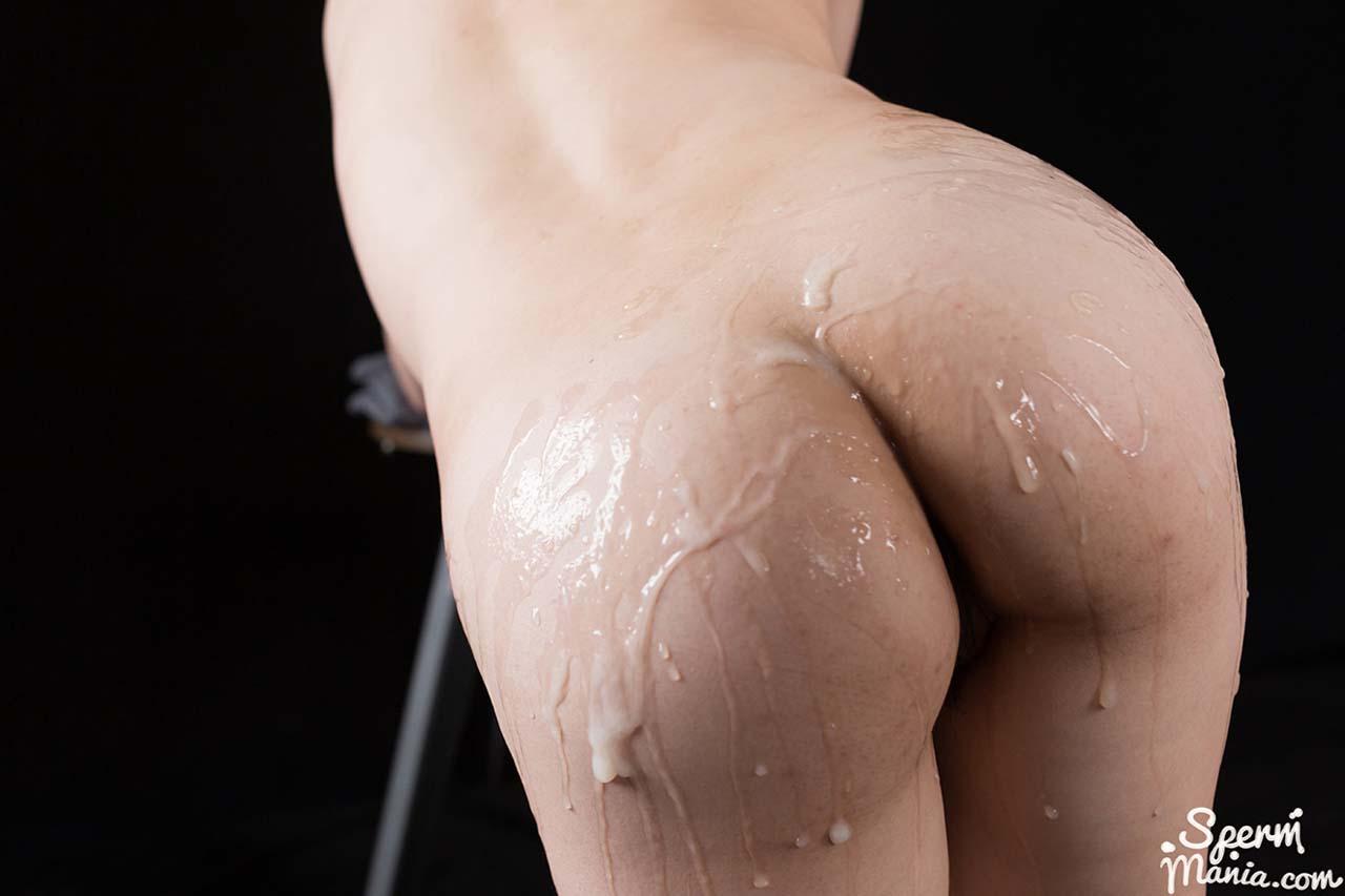 Yuka Shirayuki Butt Bukkake and Cum Rub in an uncensored video from SpermMania.