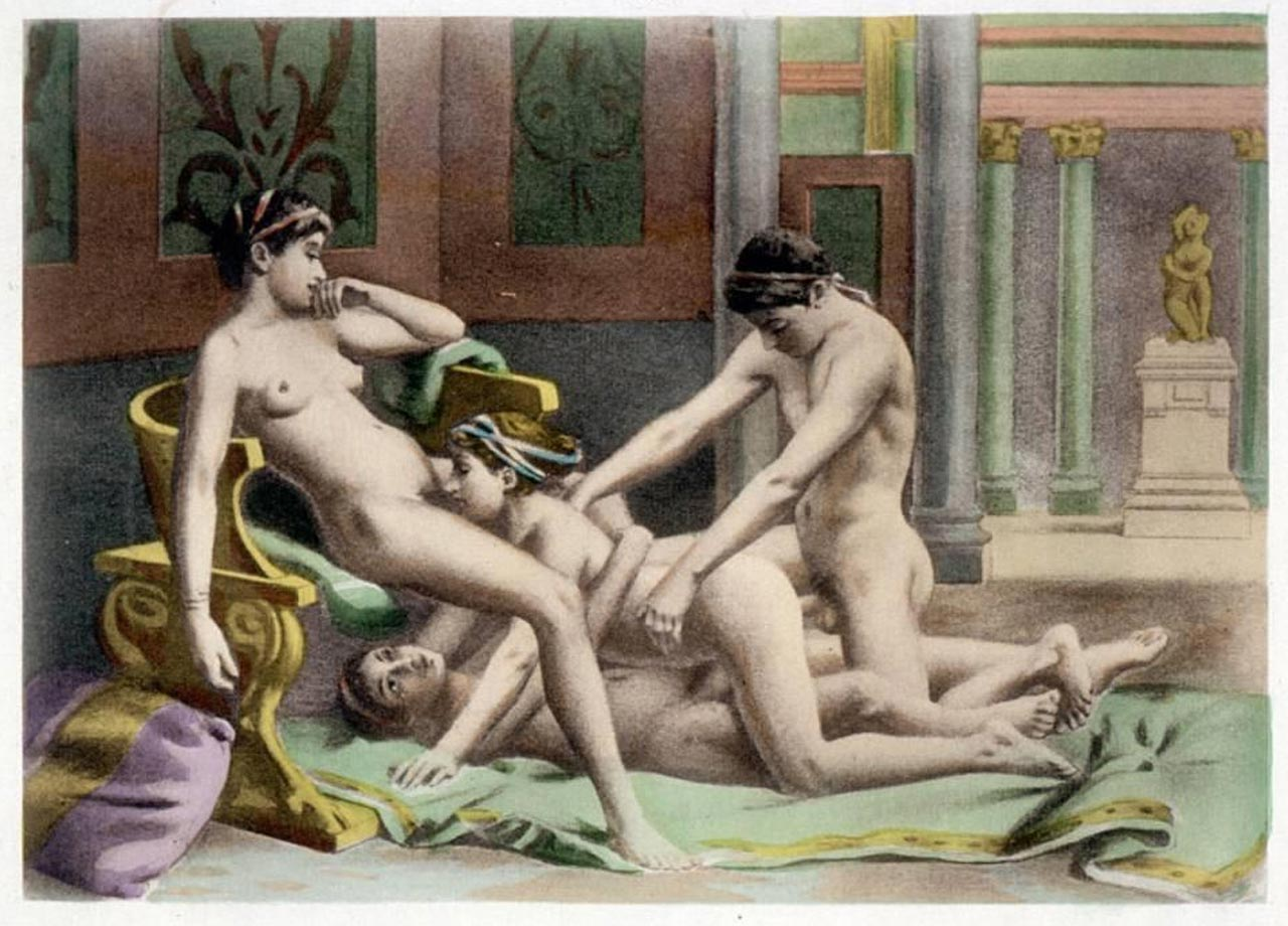 Cunnilingus and groupsex at walmart. A fine art print of Plate 19 of De Figuris Veneris by Edouard-Henri Avril.