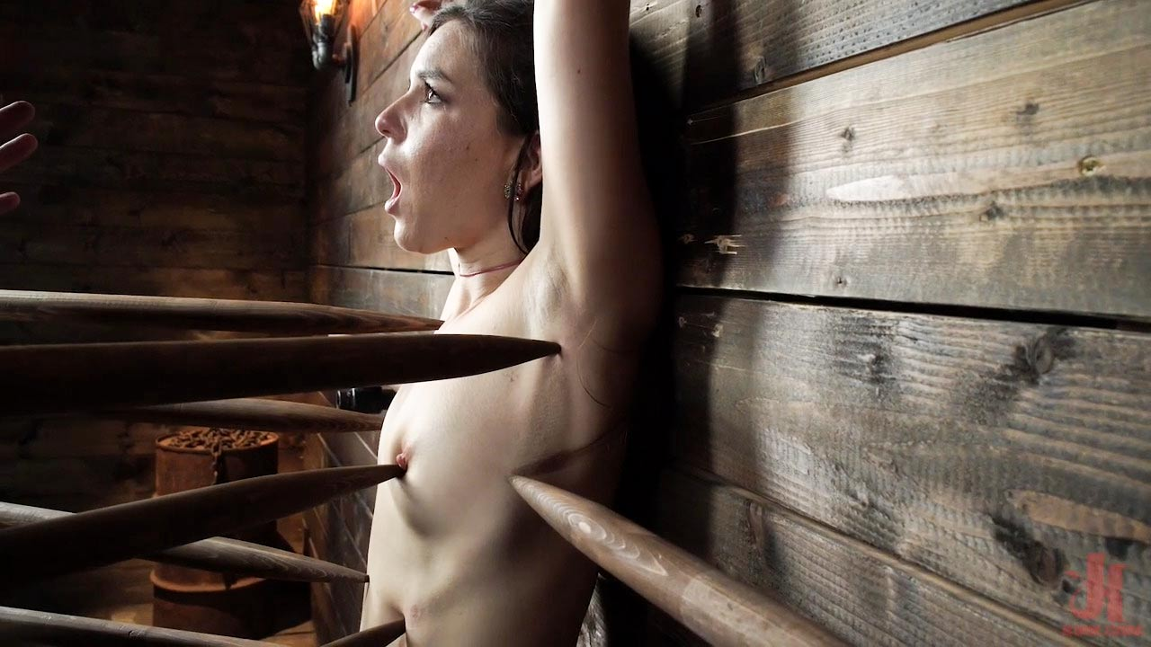 Juliette March: Perfect Pain Slut Pushed to the Extreme. A nude girl tormented in a BDSM video from Device Bondage.