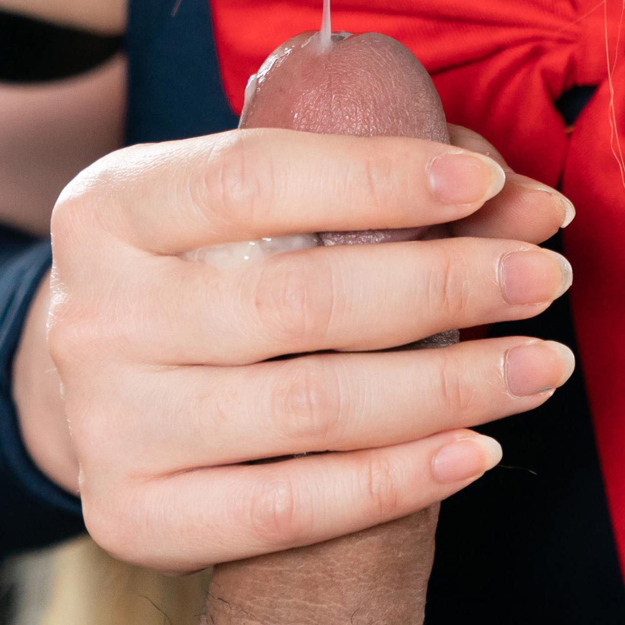 Mary Strokes with Cum. An uncensored Cum Handjob video from SpermMania.