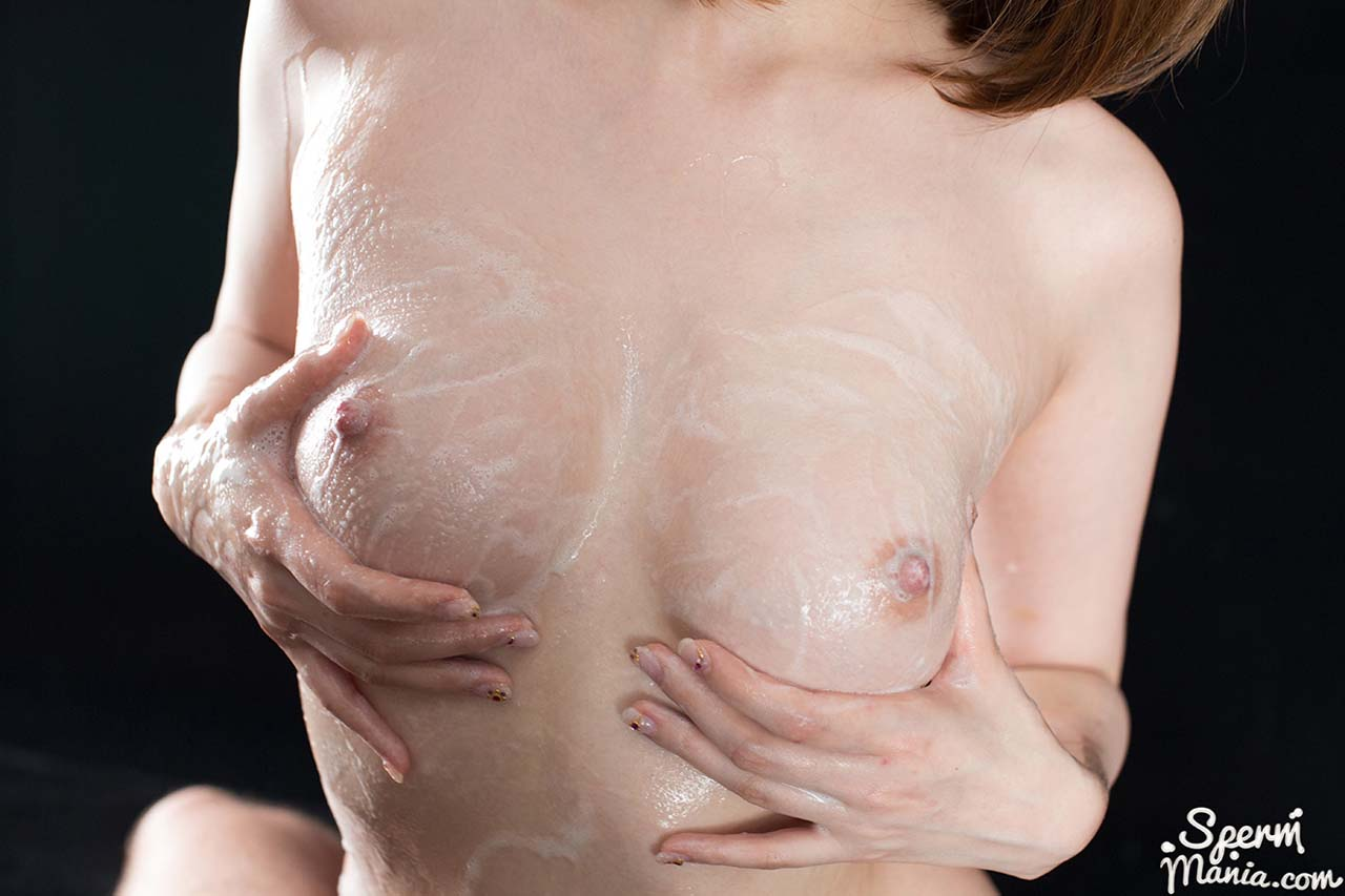 Titjob With Aya Kisaki's Cum Covered Tits. Aya Kisaki gets 12 cumshots on her breasts. Uncensored Bukkake fetish video with a nude Japanese AV model at SpermMania.