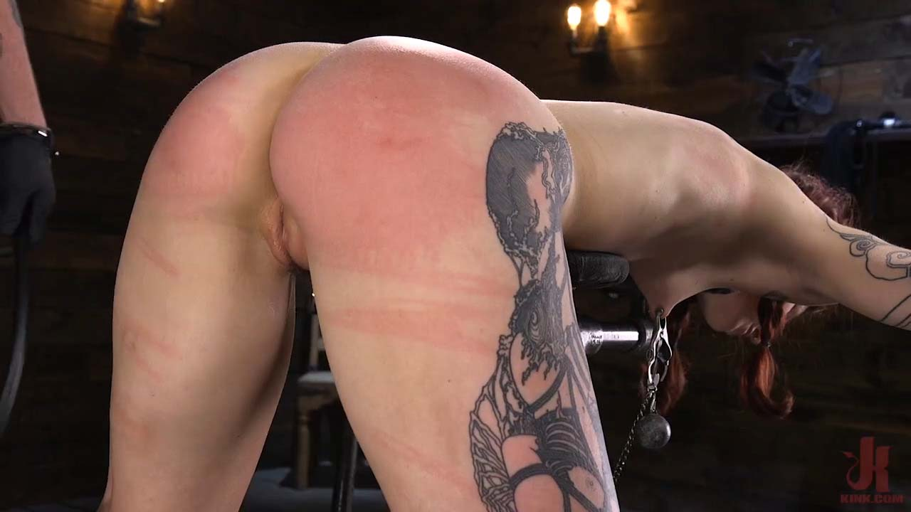 Cam Damage, nude in the BDSM Device Bondage porn video