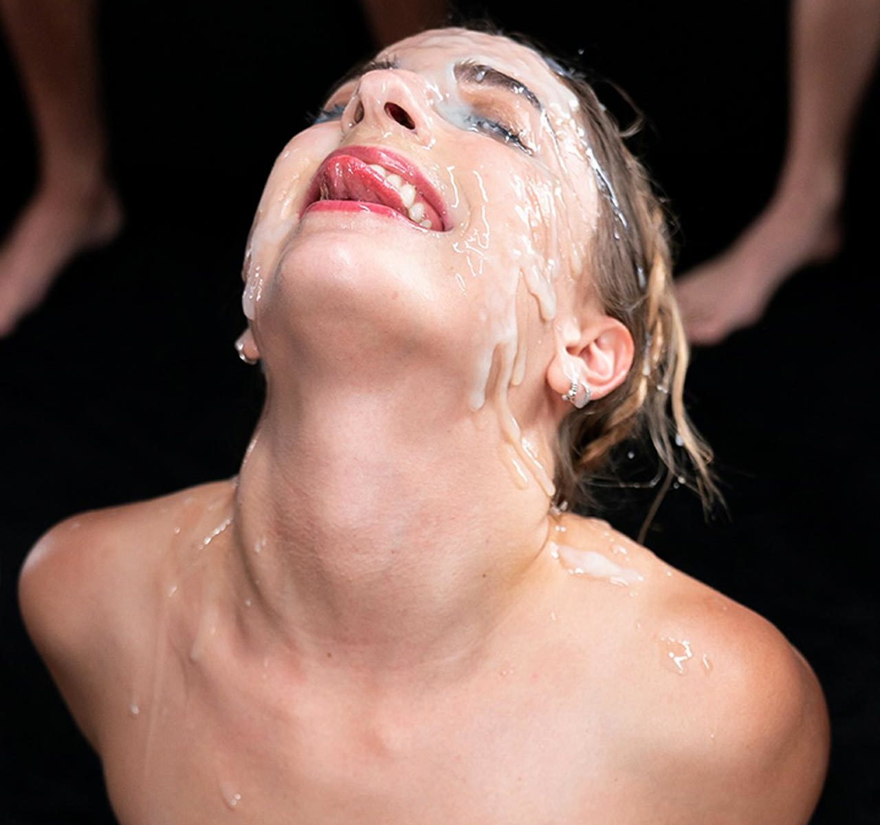 Kristen Scott Facial Bukkake, Cum on Face Fetish. A nude girl is facialized with 31 cumshots. A SpermMania video, uncensored.
