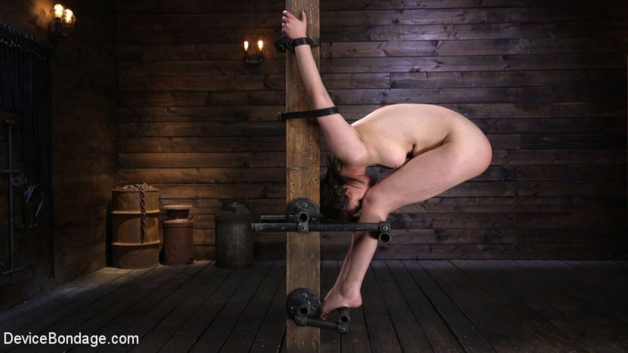 Casey Calvert nude in a BDSM video at Device Bondage.
